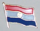 Paraguay Country Flag Enamel Pin Badge